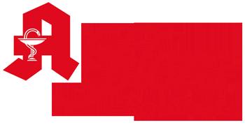 Logo mit Apozeichen Flora-Apothke-Bonn rot