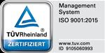 Zertifikat TUEV-Rheinland ISO 9001:2015